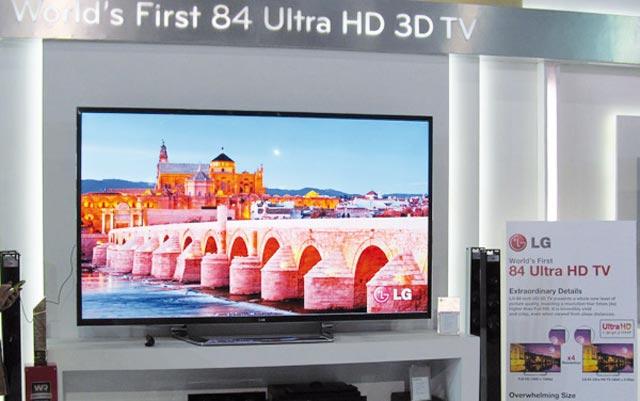LG lève le voile sur la première TV ultra HD 3D 84 pouces