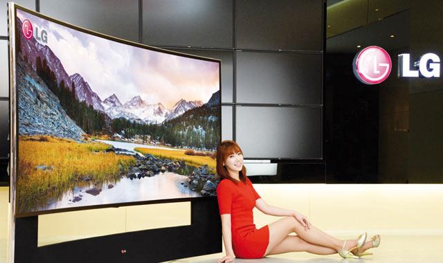 LG dévoile son premier téléviseur  à écran incurvé