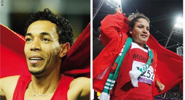 Meilleurs sportifs marocains de l année : Abdelaâti Iguider et Najat  El Garâa haut la main