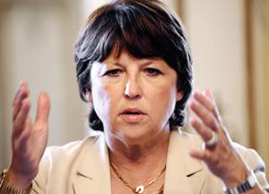 La socialiste Martine Aubry réclame un vrai plan de relance