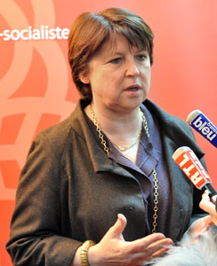 Martine Aubry rate la première marche des européennes