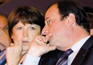 France : Hollande et Aubry, une ligne de départ, deux styles