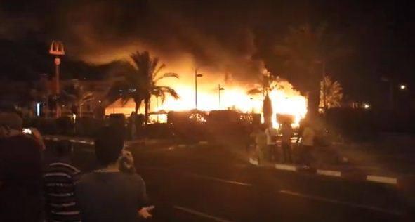 McDonald's de Marrakech en feu