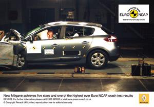 Crash-tests EuroNCAP : Pluie d'étoiles, mais ancienne notation