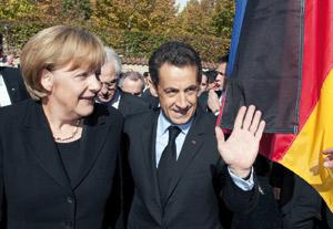 La crise financière met à l'épreuve l'axe franco-allemand