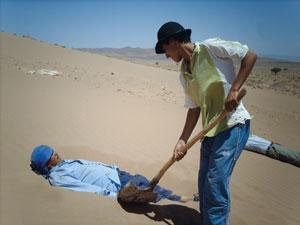 Un bain de sable en plein désert à Zagora