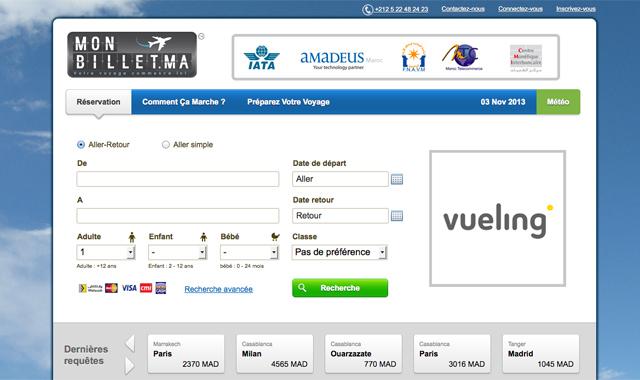 Monbillet.ma, 1er site comparateur de vols au Maroc