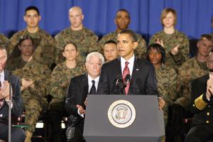 Obama annonce le retrait du gros des troupes d'ici à août 2010