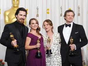 Cinéma : «Le discours d'un roi», Natalie Portman et Colin Firth couronnés.