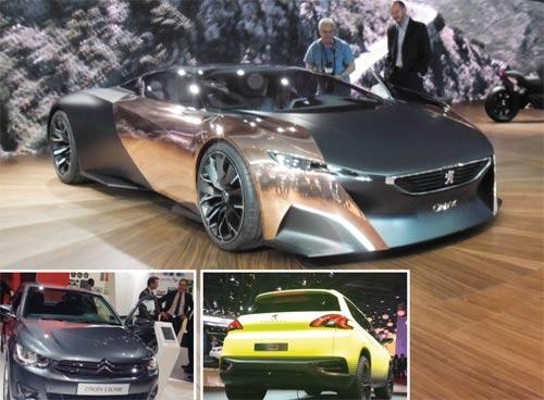 Peugeot et Citroën : Nouveautés et concepts se côtoient