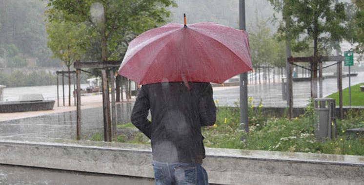Fortes averses de pluies sur le Nord et le Rif jusqu'à mardi