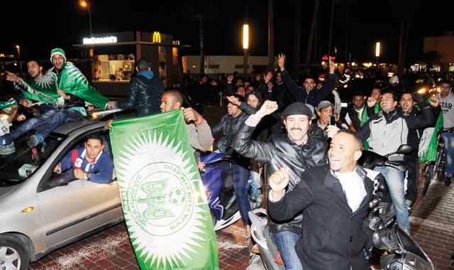 Casablanca en délire pour fêter l'exploit du Raja