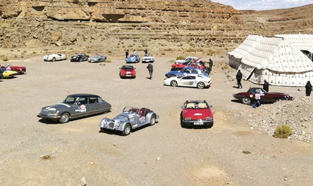 Coup d envoi du Rallye international des lacs du Maroc