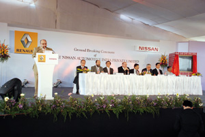 Lancement de la construction d'une usine Renault-Nissan en Inde