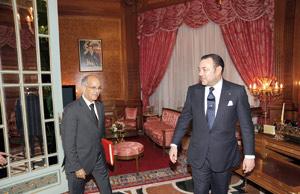 SM le Roi reçoit Mohamed Cheikh Biadillah