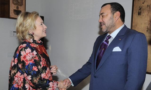 SM le Roi Mohammed VI  à New York pour s'entretenir avec  Hillary Clinton