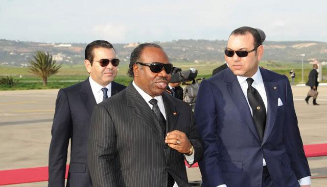 Le Gabon,  dernière étape du périple  africain  du Souverain