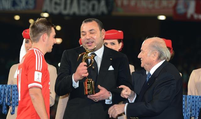 Coupe du Monde des Clubs de la FIFA :  SM le Roi a remis le trophée au Bayern