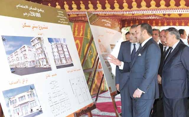 SM le Roi Mohammed VI au service de l habitat social