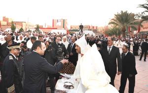 SM le Roi fait une entrée officielle à Errachidia