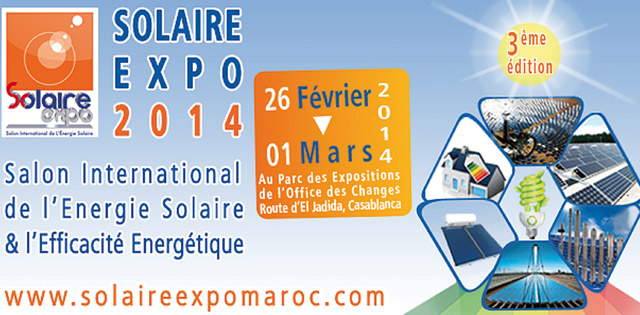 Le Solaire Expo à partir du 26 février à Casablanca