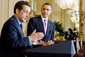 Sarkozy prêche une amitié solide et transparente avec Obama