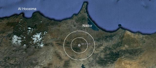 Secousse sismique de 3,5 degrés dans la province de Nador