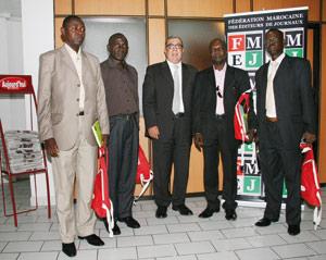 Entretiens entre le président de la FMEJ et une délégation d'éditeurs centrafricains