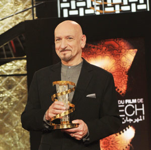 9ème Festival international du film de Marrakech : hommage à l'acteur britannique Sir Ben Kingsley