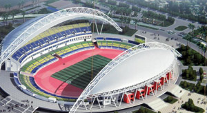 Stade d'Angondjé au Gabon