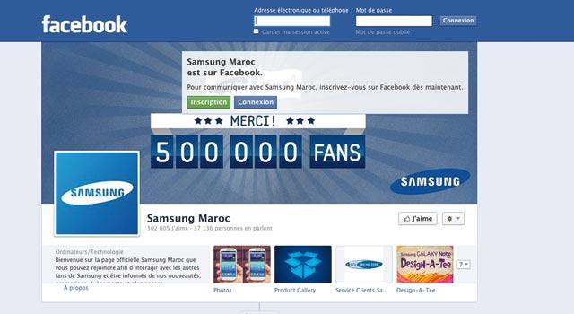 Samsung Maroc première marque suivie sur Facebook