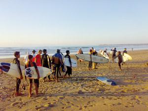 Les surfeurs nationaux à l'épreuve