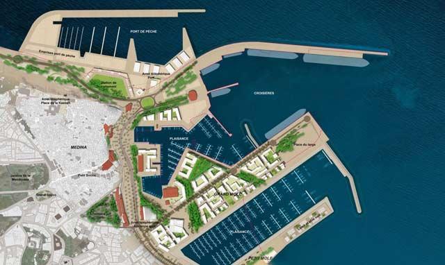 Reconversion du port Tanger ville : l'état d'avancement des travaux de la nouvelle marina atteint 60%