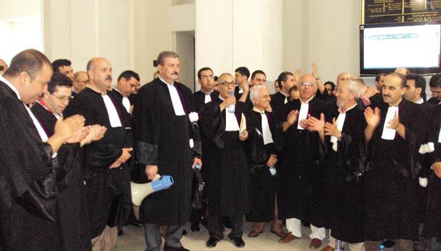 Justice : Les avocats manifestent contre Ramid