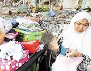 Tsunami : l'île de Java à nouveau sinistrée