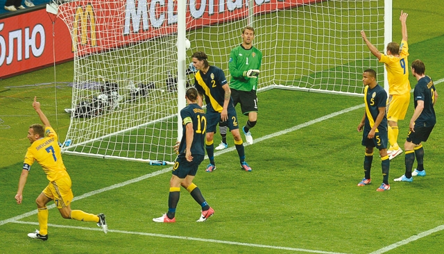 Euro-2012 : Immortel, Shevchenko offre la victoire à l Ukraine contre la Suède