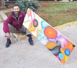 Des métiers et des gens : Abdallah Arafa : des tableaux nommés espoir