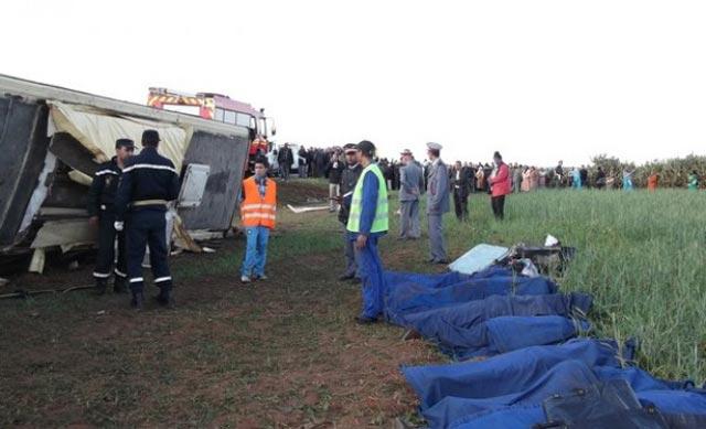 Sept morts dans un accident de la route près de Sidi Bennour