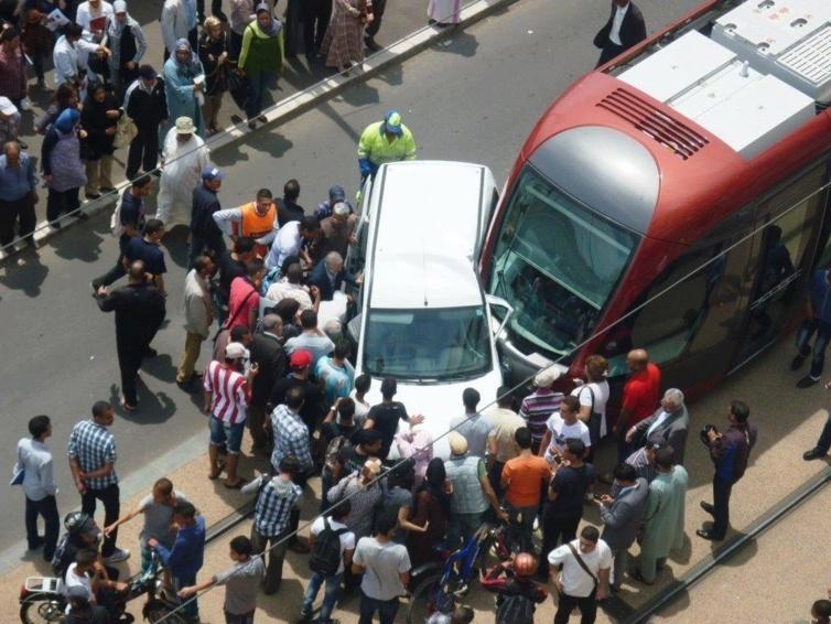 Un véhicule est entrée en collision avec le Tramway de Casablanca