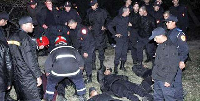 29 policiers blessés dans un accident de la route près  de Benguérir