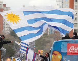 Uruguay : Montevideo s'arrête pour fêter ses nouveaux héros