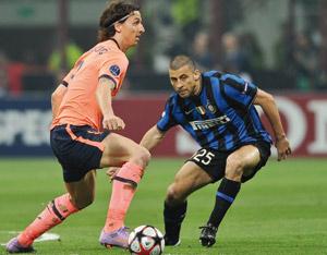 L'Inter de Milan muselle Barcelone