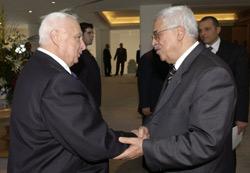 Abou Mazen-Sharon, sous l'oeil de Condoleezza Rice
