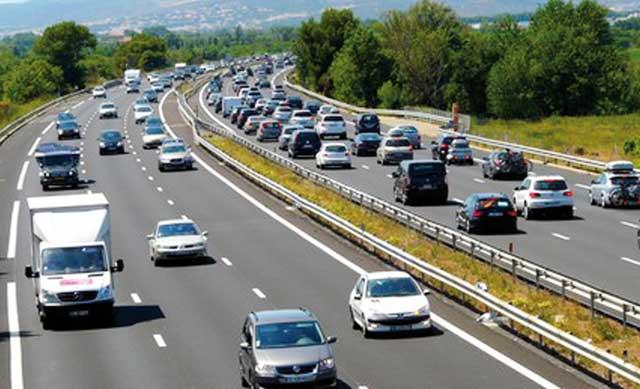 Trafic autoroute : bouchons en perspective