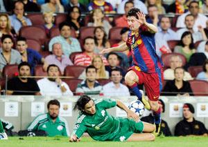 Le Barça beaucoup trop rapide pour le «Pana»