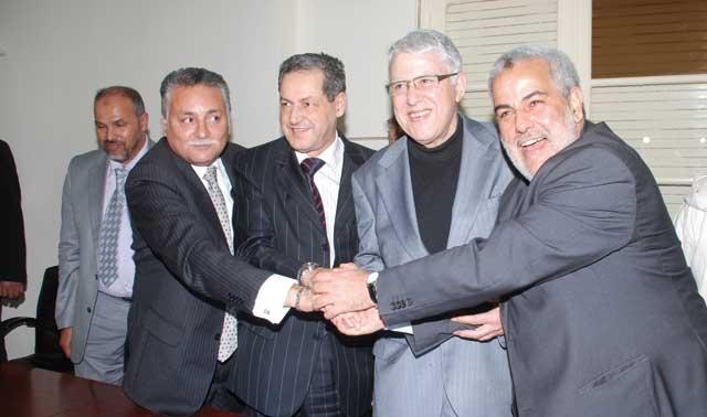 Benkirane rencontre aujourd hui les  présidents des groupes de sa majorité