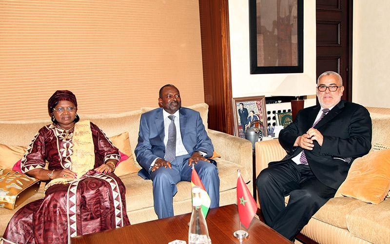 Développement de l'Afrique: Benkirane s'entretient avec son homologue guinéen