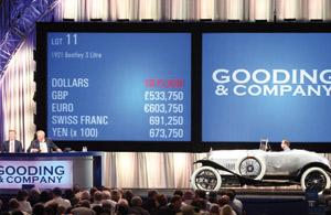 Ventes aux enchères : Un million de dollars pour la plus vieille Bentley