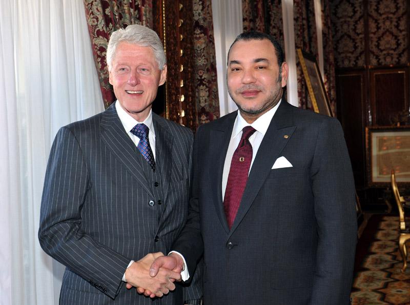 Bill Clinton reçu par SM le Roi dans le cadre d'une visite privée