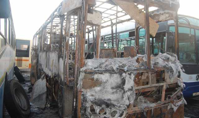 Un bus prend feu à Salé: pas de victime